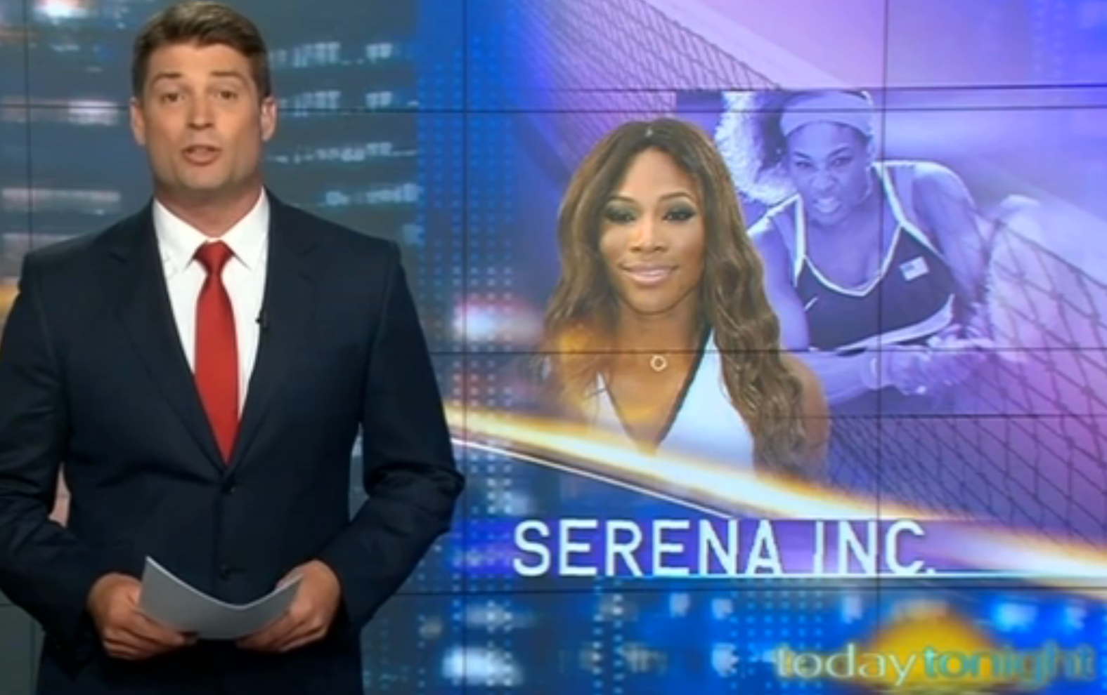 Serena Williams Styled by Kiss Me Stupid on Today Tonight